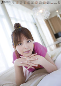 2010年平野綾カレンダー 3月4月