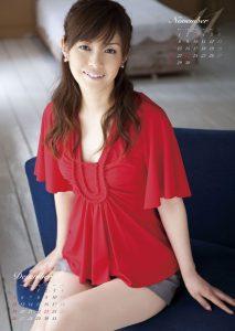 2010年杉崎美香カレンダー 11月12月