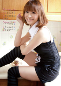 2012年神戸蘭子カレンダー 1月2月