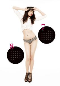 2010年臼田あさ美カレンダー 7月8月