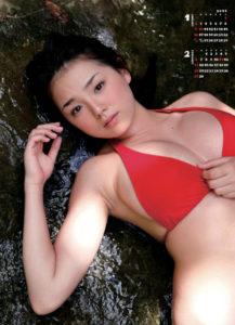 2011年篠崎愛カレンダー 1月2月