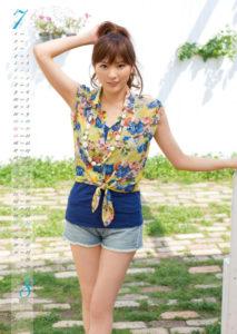 2013年山岸舞彩カレンダー 7月8月