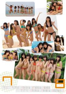 2014年アイドルカレッジカレンダー 7月8月