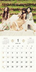 2016年Kalafinaカレンダー 1月