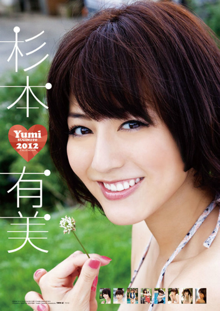 2012年杉本有美カレンダー 表示