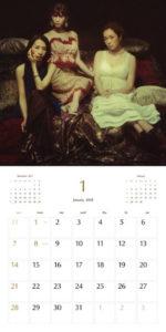 2018年Kalafinaカレンダー1月